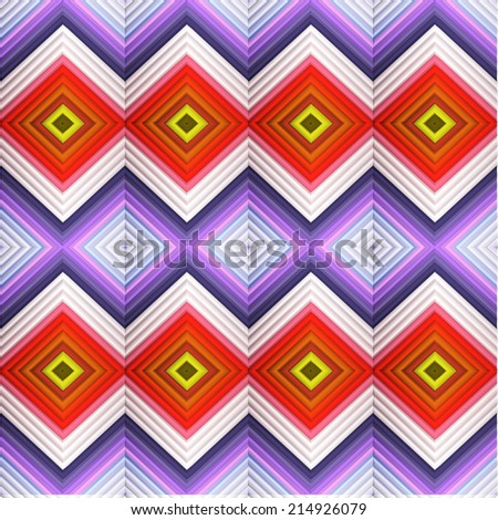 Colorful abstract geometric pattern. Vector illustration. - stock vector