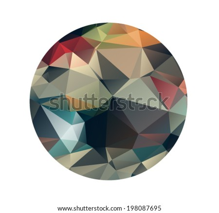 Colorful abstract geometric texture. Background with triangular polygons, low poly style  - stock vector