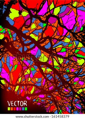 Colorful abstract of paint stains  - stock vector