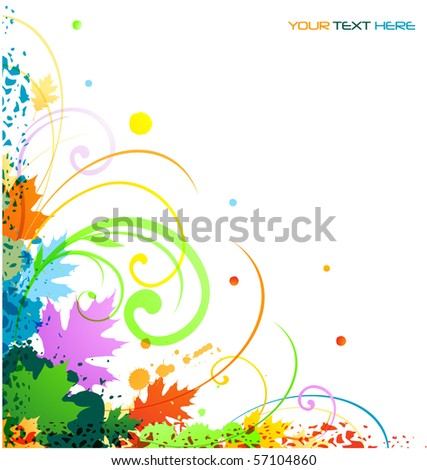 Colorful abstract ornament corner