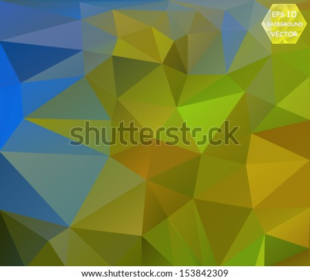 colorful abstract polygonal background. Vector, EPS 10 - stock vector