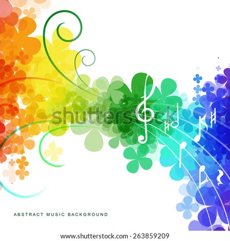 Colorful abstract rainbow background for your design - stock vector