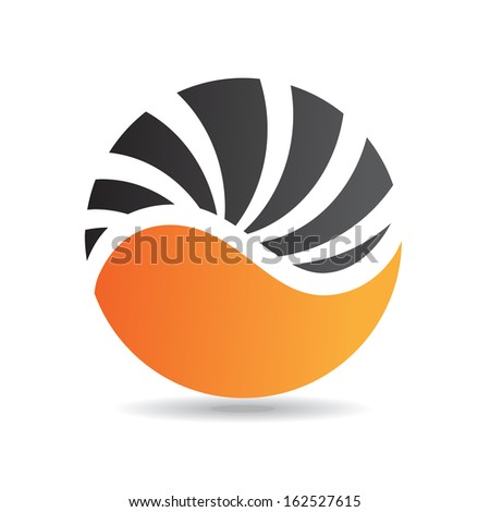 Colorful Abstract Round Icon - stock vector