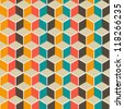 colorful abstract seamless geometric pattern.Vector illustration - stock photo