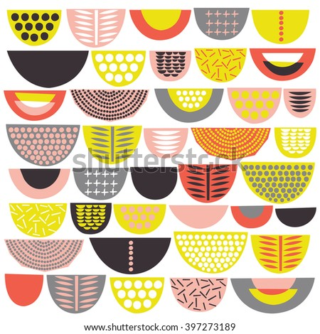 Colorful Abstract Seamless Pattern. Vector illustration  - stock vector