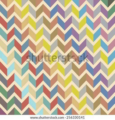 Colorful abstract seamless vector herringbone pattern - stock vector