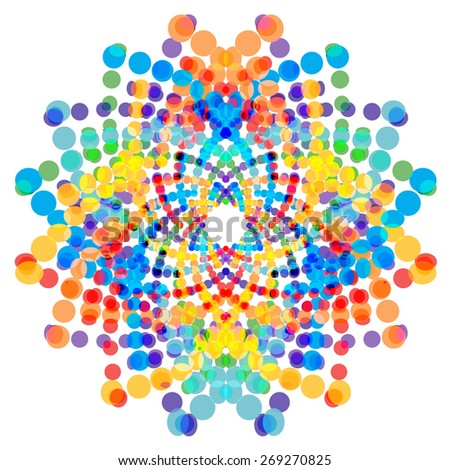 Colorful abstract shape, design element. - stock vector