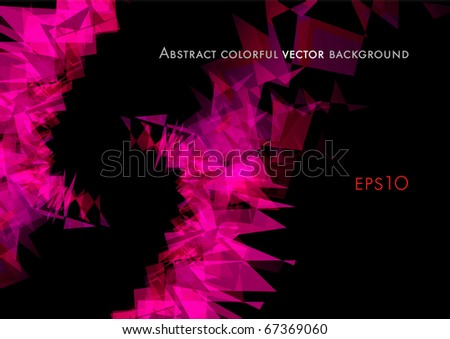 Colorful abstract shiny background design (eps10) - stock vector
