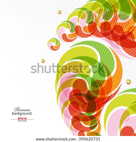 Colorful abstract stream background with stacked shape elements