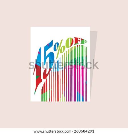 colorful abstract tag with discount