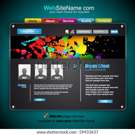 Colorful Abstract Technology Website template - stock vector