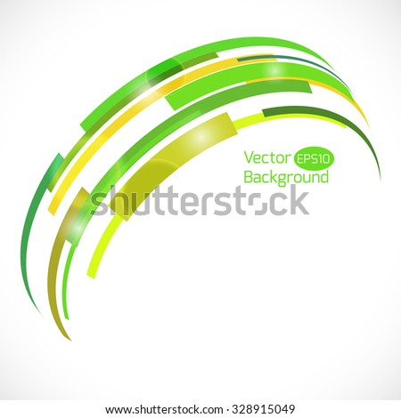 Colorful abstract vector background. Abstract technology 3d circle. - stock vector