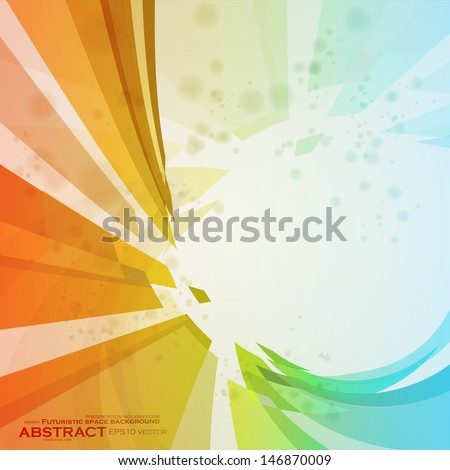 Colorful abstract vector background, creative futuristic illustration eps10 - stock vector