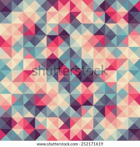 Colorful abstract vector illustration: triangular geometric low poly graphic background - stock vector