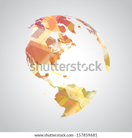 Colorful abstract world symbol - stock vector