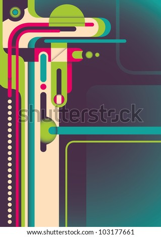 Colorful abstraction. Vector illustration.