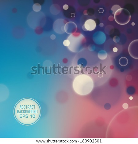 Colorful abstraction with bubbles. Vector illustration. - stock vector