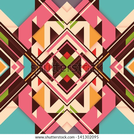 Colorful abstraction with geometric elements. Vector illustration. - stock vector