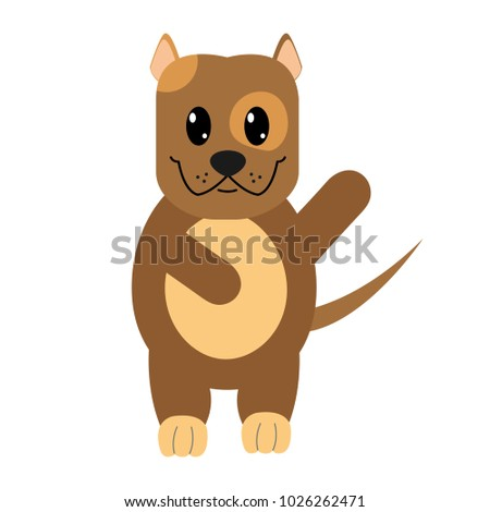 Good Bear Brown Adorable Dog - stock-vector-colorful-adorable-and-cute-dog-animal-with-hand-up-1026262471  Picture_421422  .jpg