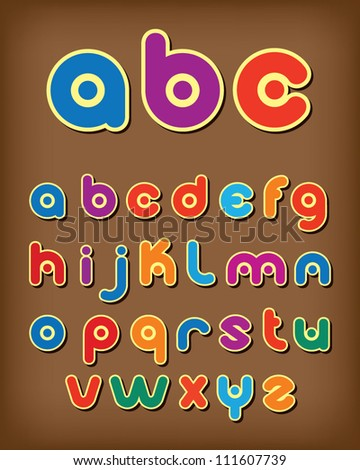 Colorful alphabet - stock vector