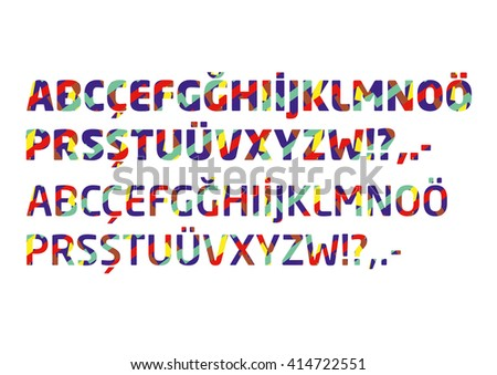 Colorful Alphabet Set - stock vector