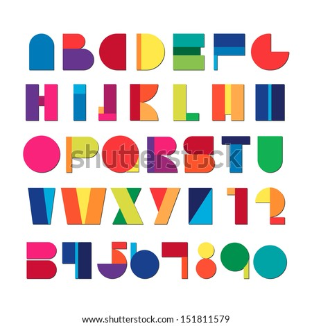 Colorful alphabet Set - Vector illustration - stock vector