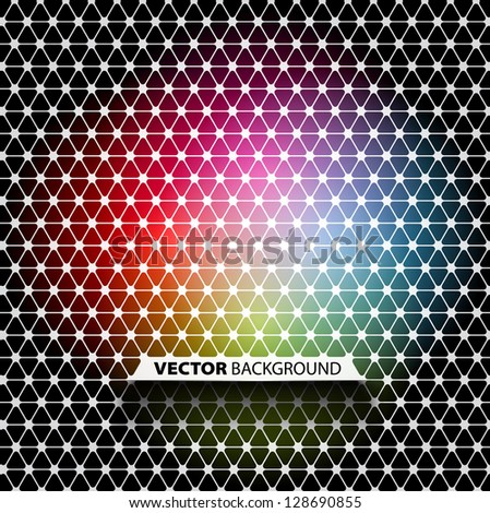 Colorful and black abstract mosaic background - vector - stock vector