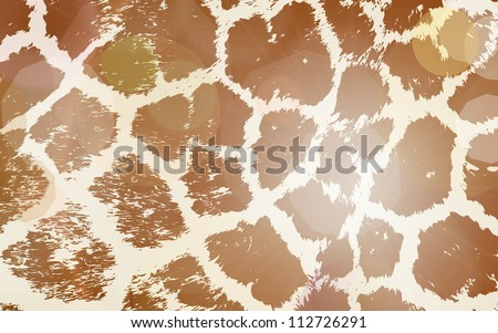 Colorful Animal skin textures of giraffe. Vector illustration wild pattern, eps 10