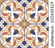 colorful Arabic style tiles - seamless pattern - stock vector