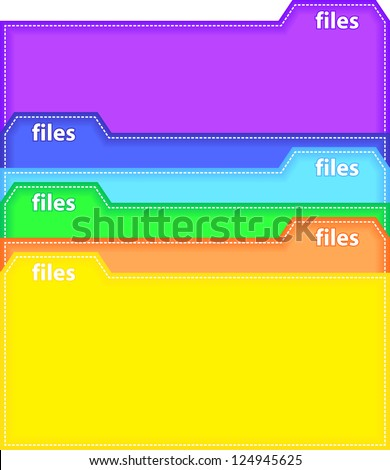 Colorful archive bookmarks of card index - stock vector