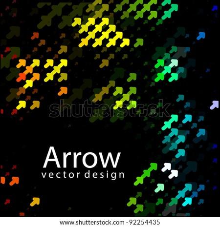colorful arrow design - stock vector