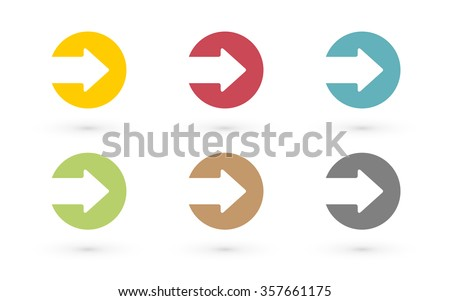 Colorful arrows in circle icon - stock vector