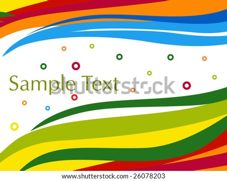colorful artistic stripes background with circle text