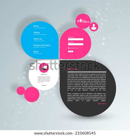 Colorful Astract Web Design  (Speech Bubble Style) - stock vector