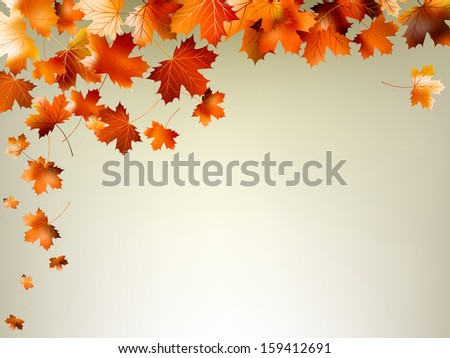 Colorful autumn leaves falling and spinning. And also includes EPS 10 vector - stock vector