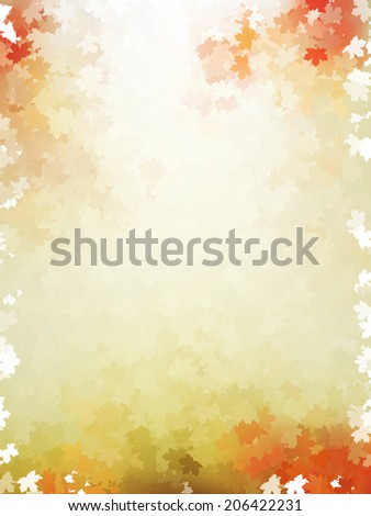 Colorful autumn leaves template pattern.  - stock vector