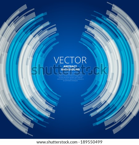 Colorful background blue style tech design, vector background - stock vector