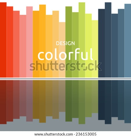 Colorful background design with stylized skyscrapers - stock vector