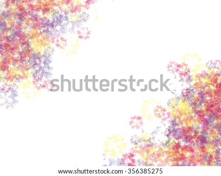 Colorful background. Festive background with vivid abstract splashes. Watercolor imitation. Spray of paints. Vector, EPS 10 - stock vector