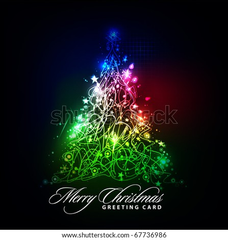 colorful background for new year and Christmas, vector illustration - stock vector
