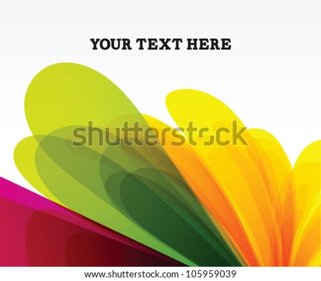 Colorful background for print ads, banner or website - stock vector