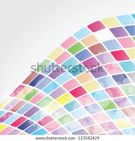 Colorful Background Mosaic - stock vector