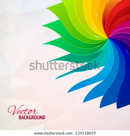 Colorful background with book pages rainbow for your web design - stock vector