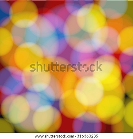 Colorful background with defocused lights. Colorful bokeh background. Vector illustration