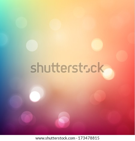 Colorful background with defocused lights - eps10 vector - stock vector