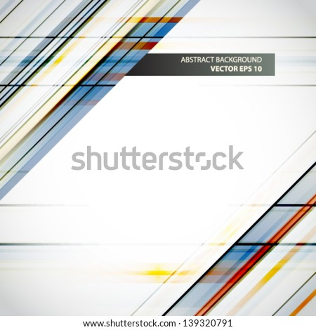 Colorful background with designed lines abstraction. Vector illustration. - stock vector