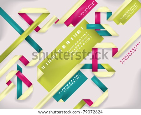 Colorful background with origami folded lines