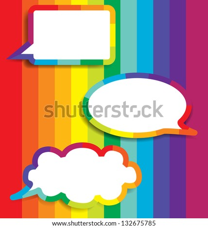 Colorful Background With Speech Bubble, Vector Illustration