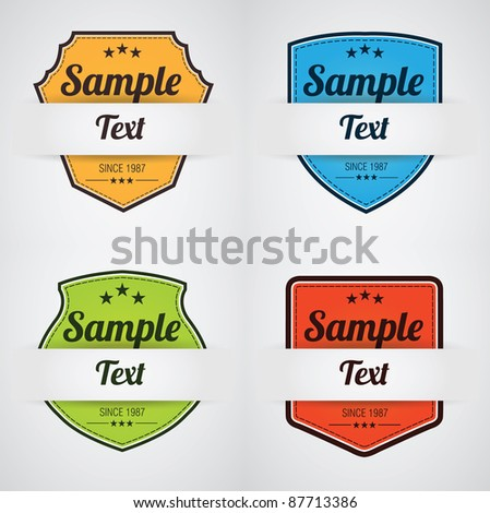 Colorful Badge Collection - stock vector