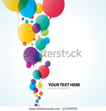 Colorful Balloons Abstract Background - stock vector